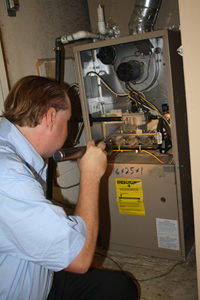 inspecting a furnace